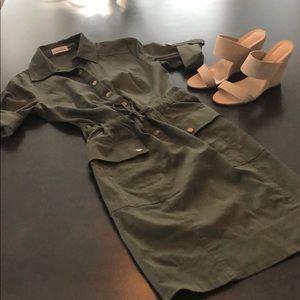 Calvin Klein Olive Green Dress